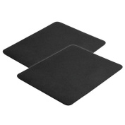 Insten 2-Piece Standard Mouse Pad for Optical/ Trackball Mouse, Black