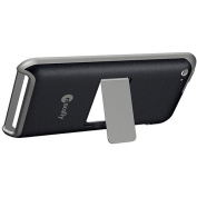 Macally Snap-On Case with Stand and Screen Wipe for iPod touch 4G, Black and Grey