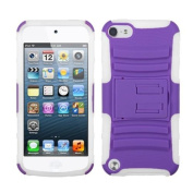 INSTEN Purple/Solid White Advanced Armour Stand Case for APPLE