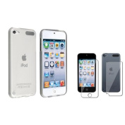INSTEN Frost Clear White TPU Soft Case+Full Body Protector For Apple iPod touch 5 G 5th Gen
