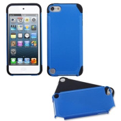 INSTEN Dark Blue/Black Frosted Fusion Case for APPLE