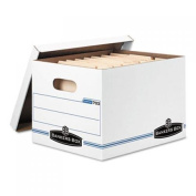 Stor/File Storage Box, Letter/Legal, Lift-Off Lid, White, 6/Pack