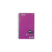 (Price/Case of 24)Bazic Products 564-24 W/R 150 Ct. 24cm X 15cm 3-Subject Spiral Notebook