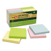 100% Recycled Notes, 1 1/2 x 2, Yellow, 12 100-Sheet Pads/Pack