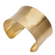 Solid Brass Concave Bracelet Base 38mm (1.5 Inch) Wide - 1 Piece
