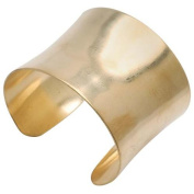 Solid Brass Concave Bracelet Base 50.8mm (2 Inches) Wide - 1 Piece