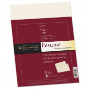 Southworth 25% Cotton Resume Envelopes, Ivory, 11kg, 9 x 12, Wove, 25/Box