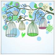 Bird Cages Wall Decor, Deco Box