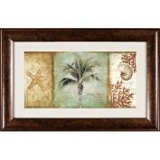Pro Tour Memorabilia Coconut Tree and Shell Framed Artwork