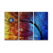 Jewel Tone Metal Wall Art - 38W x 23.5H in.