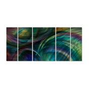 Swipes of Colour Metal Wall Art - 56W x 23.5H in.