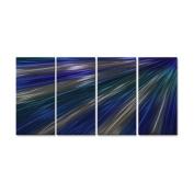 Blue Rays Of Light III Metal Wall Art - 51W x 23.5H in.
