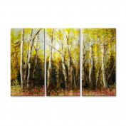 Alaskan Birch Metal Wall Art - 38W x 23.5H in.