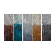 Lithosphere 55 Metal Wall Art - 44W x 23.5H in.