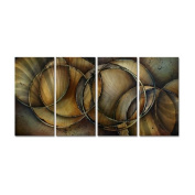 Loops of life Metal Wall Art - 51W x 23.5H in.