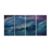 Sea Wave 2 Metal Wall Art - 51W x 23.5H in.