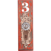 Wilco #3 Doorknob Wall Hook, Red and Creme