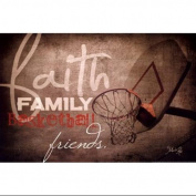 Faith Family Basketball Poster Print by Marla Rae