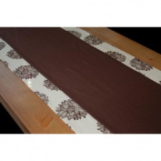 A Greener Kitchen Organic Cotton Table Runner (13 x 72) Chocolate Brown