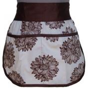 A Greener Kitchen Girls Organic Cotton Half Apron Evelyn/Chocolate Brown