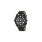 Charles-Hubert Paris 3946-BE Black-Plated Stainless Steel Case Black Dial Chronograph Watch