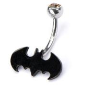 Batman Crystal Accent Steel Naval Ring