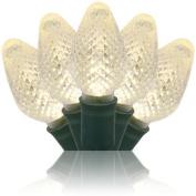 Wintergreen Lighting 20343 25 C7 Warm White LED Light String, Green Wire, 20cm Spacing