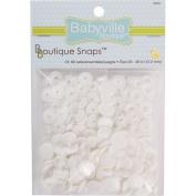 Dritz Babyville Boutique White Snaps