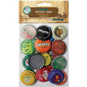 Bottle Cap Vintage Collection Standard Bottle Caps, 2.5cm , 24/pkg, Vintage Blend