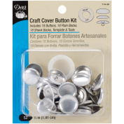 Dritz Craft Cover Button Kit, 1.9cm , 18 Sets w/Template & Tools