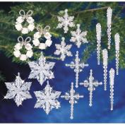 The Beadery Christmas Crystal Beaded Ornament Kit