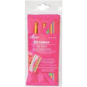 Clover Getaway Soft Touch Crochet Hooks Gift Set, Sizes C-J