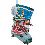 Bucilla Skaters Stocking Felt Applique Kit, 46cm Long