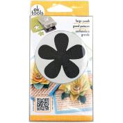 EK Success Slim Paper Punch Large, Retro Flower, Approx. 5.1cm