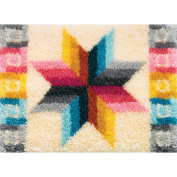 M C G Textiles Latch Hook Kit 70cm x 50cm Quilted Star