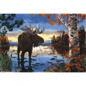 Latch Hook Kit 160cm x 100cm , Autumn Moose