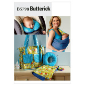 Butterick Pattern Baby's Changing Pad, Neck Support, Carrier and Nappy Bag, 1 Size