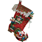 Bucilla Felt Applique Stocking, Holiday Decorating