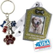 Gloria Duchin Dog Christmas Ornament and Keychain Gift Set