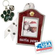 "Gloria Duchin ""Santa Paws"" Christmas Ornament and Pet Collar Tag Gift Set"