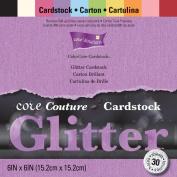Core'dinations Core Couture Cardstock Pack 15cm x 15cm 30/Pkg-Glitter
