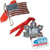 Gloria Duchin 2pc Patriotic Ornament Gift Set