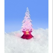 10cm Icy Crystal Battery Operated LED Lighted Christmas Tree Figure
