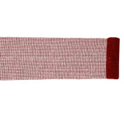 Extra Wide Mesh Red Sparkle Tinsel Christmas Ribbon 15cm x 4 Yards