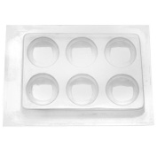 Resin Epoxy Mould For Jewellery Casting 6 Round Cabochons 49mm