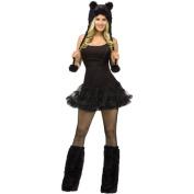 Black Cat Animal Hoodie Set Adult Halloween Accessory