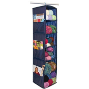 "6 Shelf Yarn & Craft Organiser 120cm x 28cm X11""-Navy"
