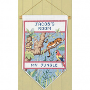 Janlynn Jungle Banner Counted Cross Stitch Kit, 18cm x 30cm , 14 Count