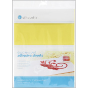 Silhouette Double, Sided Adhesive Sheets, 20cm - 1.3cm x 28cm , 8/pkg