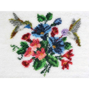MCG Textiles 37755 Hummingbirds Latch Hook Rug Kit